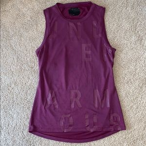 Under Armour distressed open back muscle tank